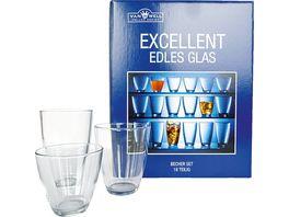 Becherset Glas Excellent 18 tlg