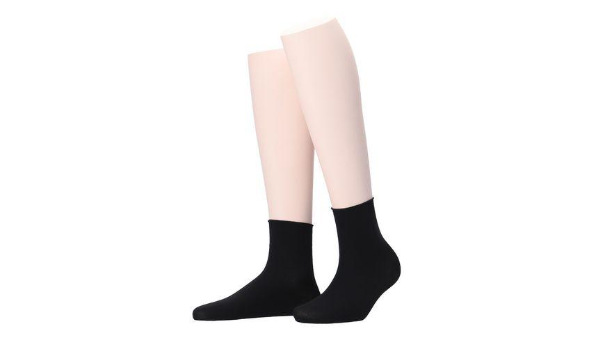 MOVE UP Damen Socken Baumwolle Superfein mit Rollrand
