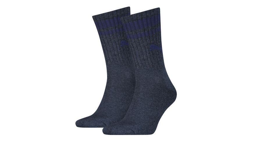 PUMA Socken Crew Heritage Stripe Unisex 2er Pack