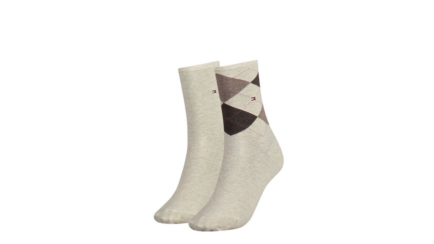 TOMMY HILFIGER Damensocken Check 2er Pack