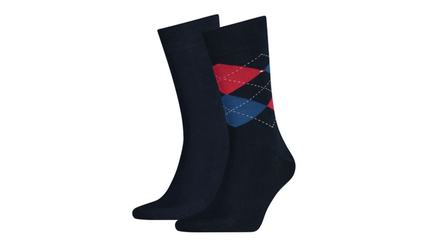 TOMMY HILFIGER Herren Socken Check 2er Pack