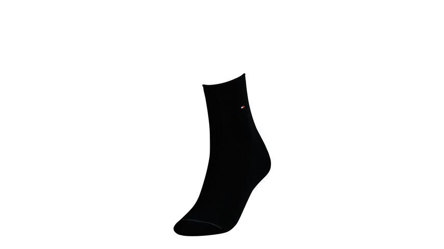 TOMMY HILFIGER Damen Socken Cotton mit Rollrand