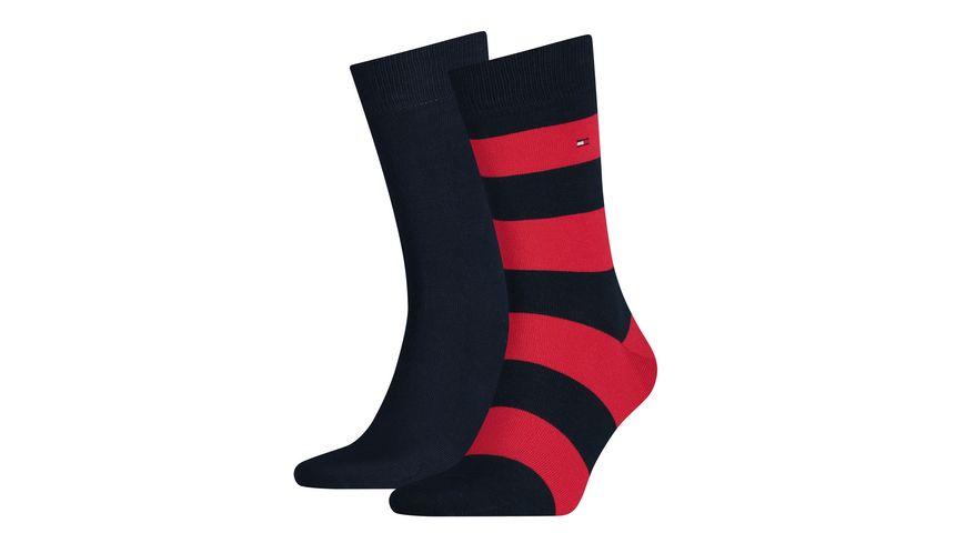 TOMMY HILFIGER Herren Socken Rugby 2er Pack