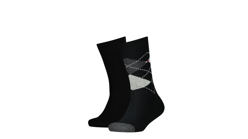 TOMMY HILFIGER Kindersocken Original Argyle 2er Pack