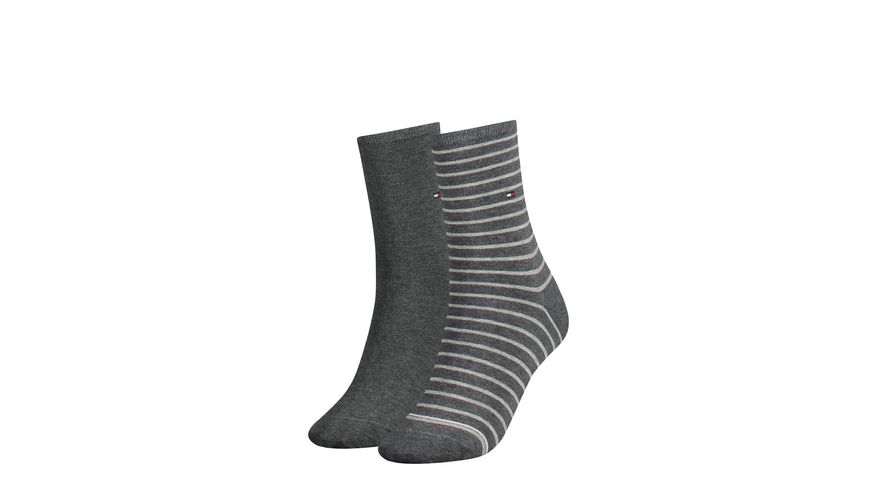 TOMMY HILFIGER Damensocken Small Stripe 2er Pack