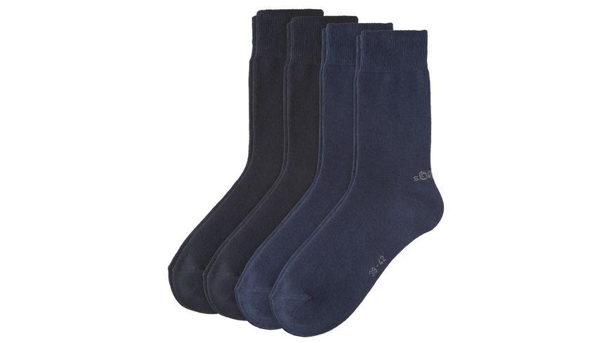 s.Oliver Unisex Socken Classic 4er Pack