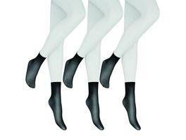 Hudson Damen Soeckchen mit Rollrand Simply 20 DEN 3er Pack