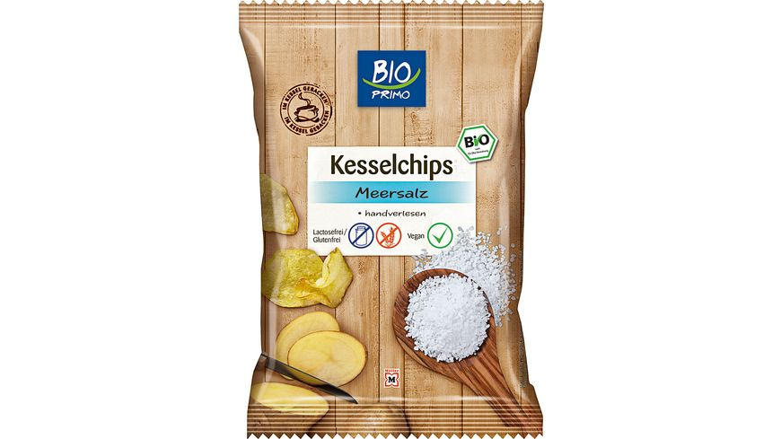 BIO PRIMO Kesselchips Meersalz