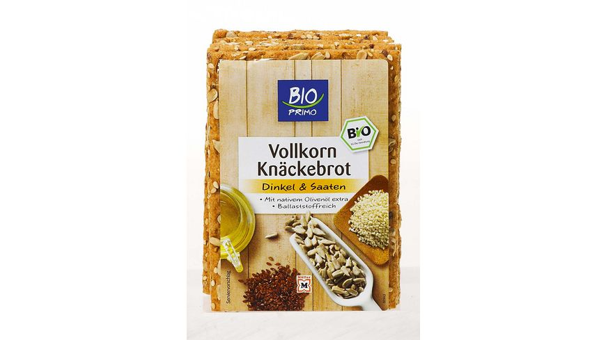 BIO PRIMO Vollkorn Knaeckebrot Dinkel Saaten
