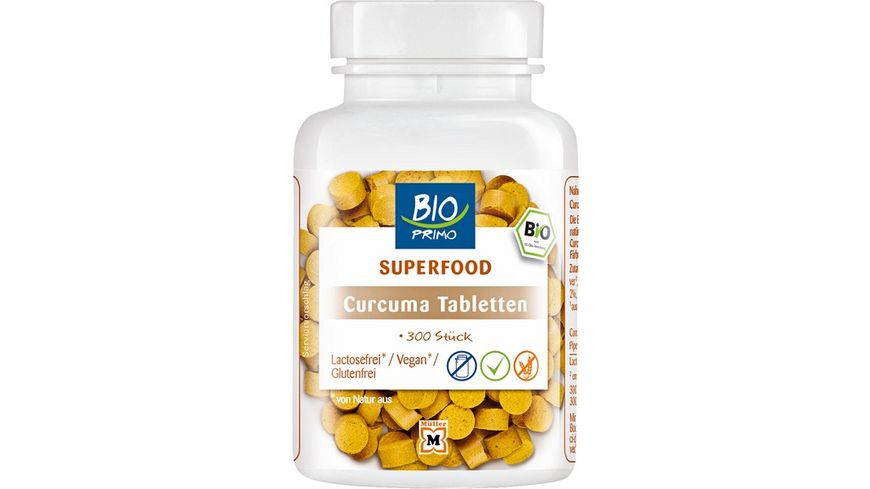 BIO PRIMO Superfood Curcuma Tabletten