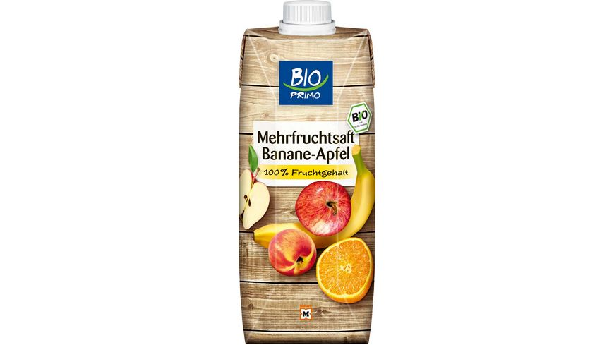 BIO PRIMO Mehrfruchtsaft Banane Apfel Tetra