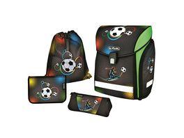 herlitz Schulranzen Set Midi Plus 4tlg Soccer
