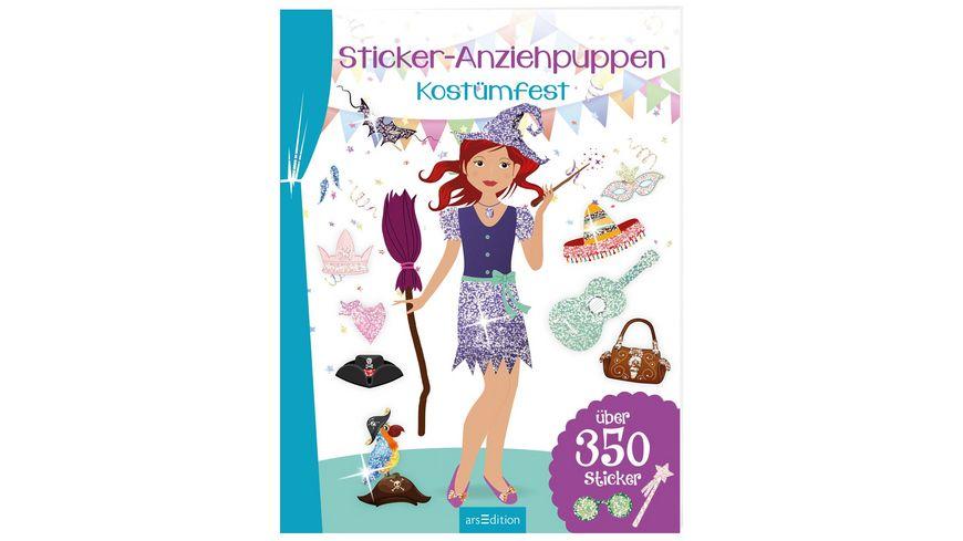 Buch Ars edition Sticker Anziehpuppen Kostuemfest