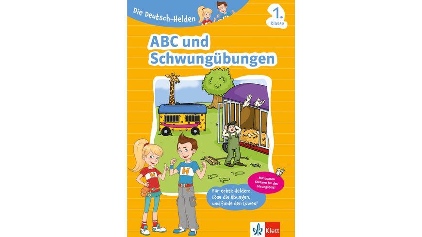 Buch - Klett Lerntraining - Die Deutsch-Helden ABC und Schwungübungen 1. Klasse
