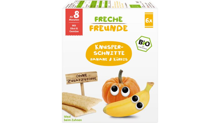 Freche Freunde Bio Knusper Schnitte Banane Kuerbis