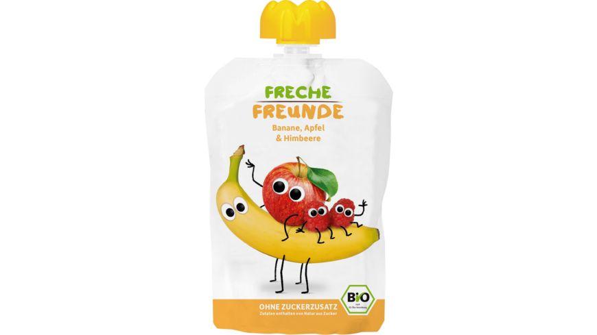 Freche Freunde Bio Quetschie 100 Banane Apfel Himbeere