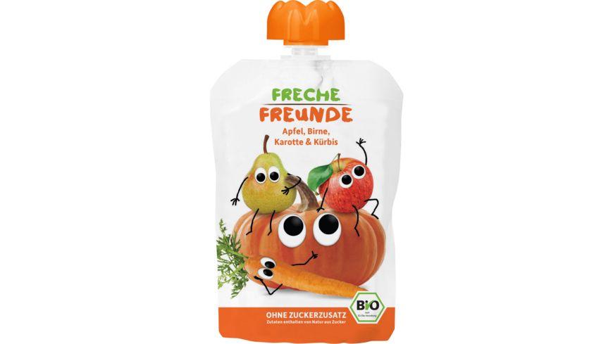 Freche Freunde Bio Quetschie 100 Apfel Birne Karotte Kuerbis