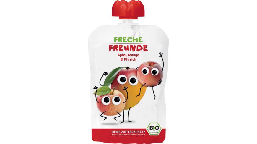 Freche Freunde Bio Quetschie 100 Apfel Mango Pfirsich