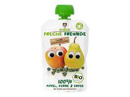 Freche Freunde Bio Quetschie 100 Apfel Birne Erbsen