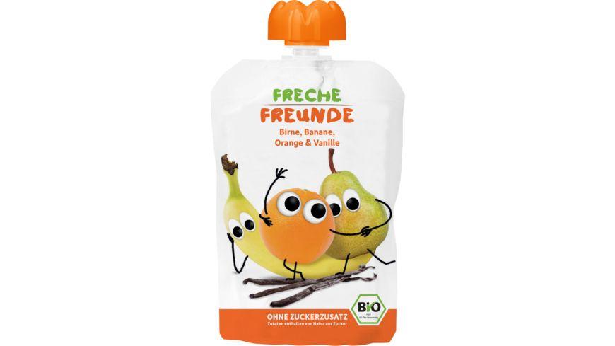 Freche Freunde Bio Quetschie 100% Birne, Banane, Orange, Vanille