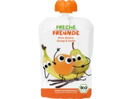 Freche Freunde Bio Quetschie 100 Birne Banane Orange Vanille