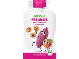 Freche Freunde Bio Quetschie 100 Apfel Suesskartoffel Mandarine