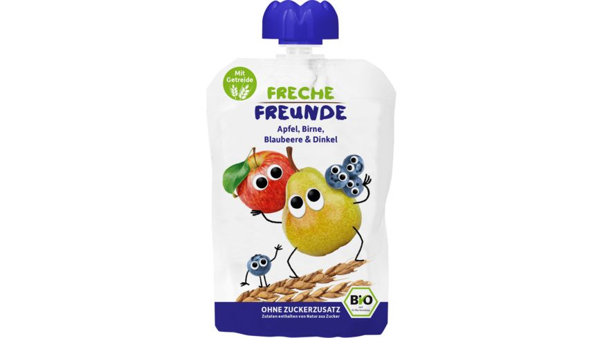 Freche Freunde Bio Quetschie Apfel Birne Blaubeere Dinkel