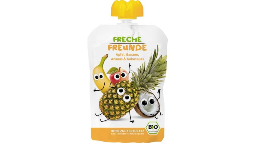 Freche Freunde Bio Quetschie 100 Apfel Banane Ananas Kokosnuss