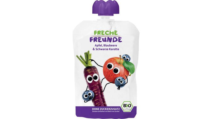 Freche Freunde Bio Quetschie 100 Apfel Blaubeere Schwarze Karotte