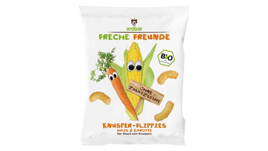 Freche Freunde Bio Knusper Flippies Mais Karotte