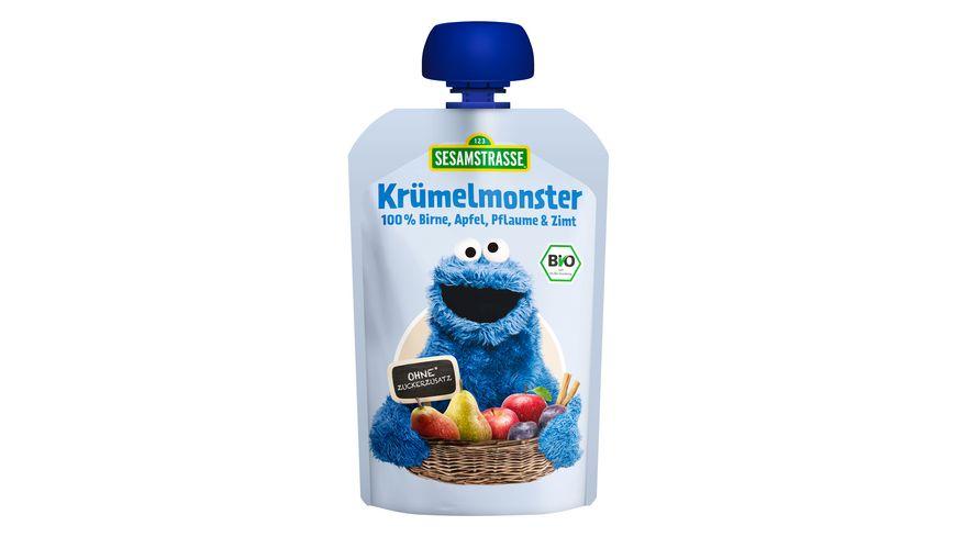 SESAMSTRASSE Frucht Mix Kruemelmonster Birne Apfel Pflaume Zimt