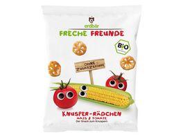 Freche Freunde Bio Knusper Raedchen Mais Tomate