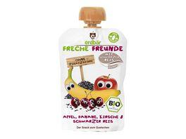 Freche Freunde Bio Quetschie Apfel Banane Kirsche Schwarzer Reis