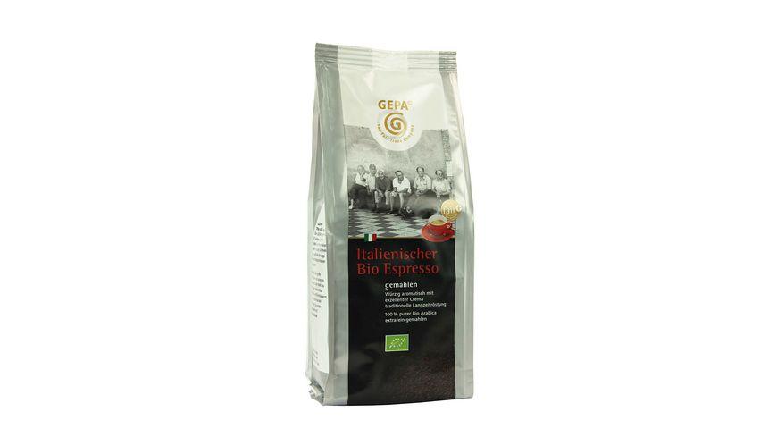 GEPA Italienischer Bio Espresso extrafein gemahlen