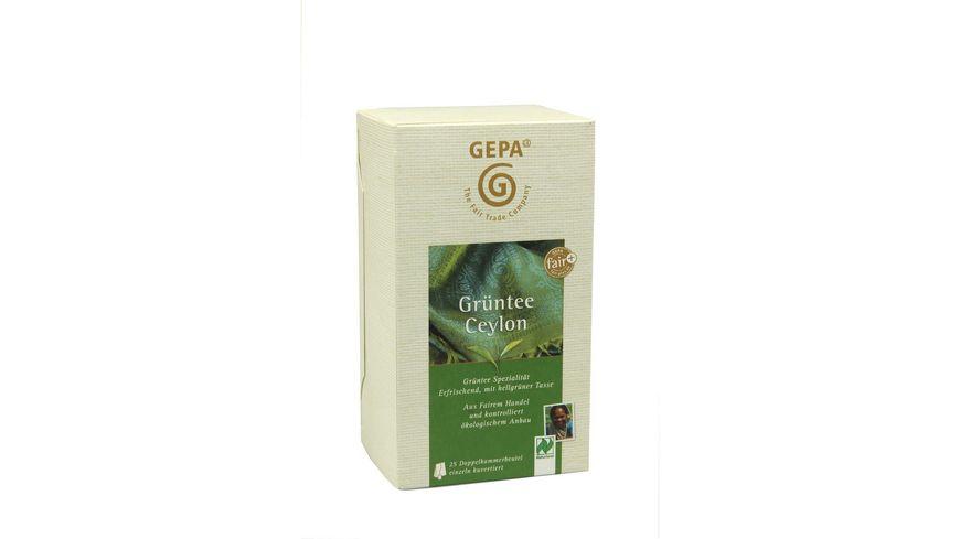 GEPA Gruentee Ceylon Teebeutel