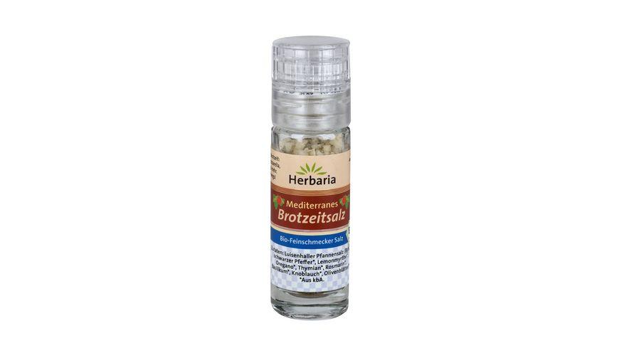 Herbaria Mediterranes Brotzeitsalz bio Mini-Mühle