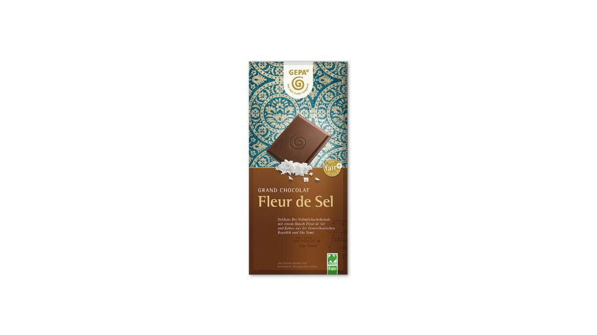 GEPA Fleur de Sel Vollmilch Schokolade