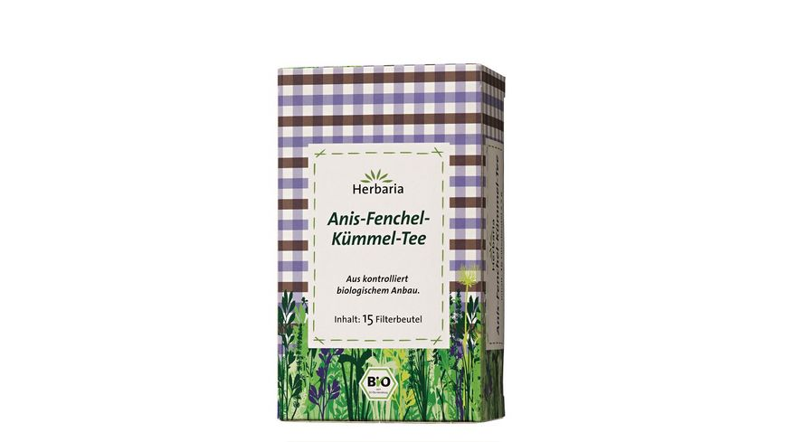 Herbaria Anis Fenchel Kuemmel Tee bio 15 FB