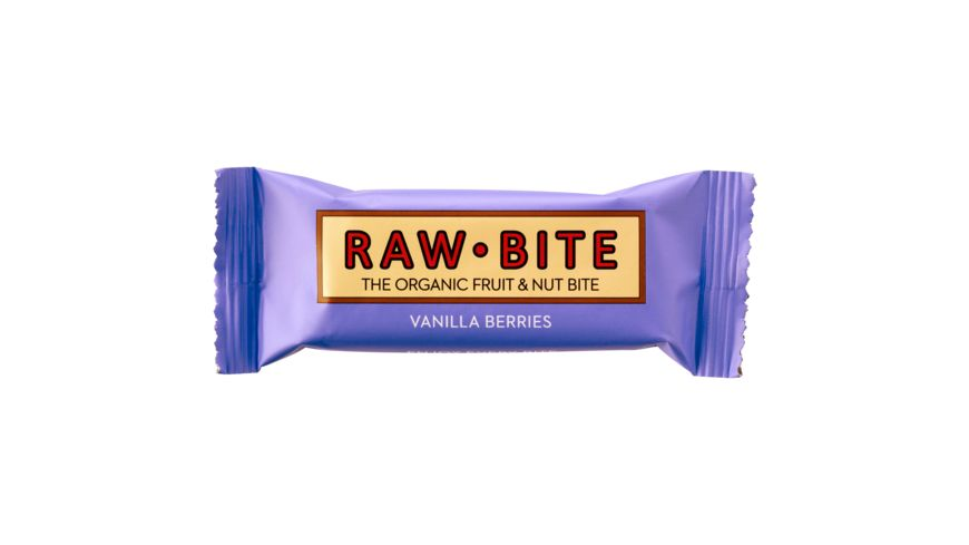 RAW BITE BIO Vanilla Berry Riegel