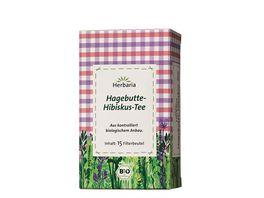Herbaria Hagebutte Hibiskus Tee bio 15 FB