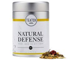 TEATOX Natural Defense Bio Gruentee mit Ingwer Loser Tee