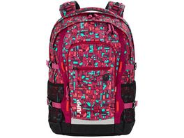 4 YOU Schulrucksack Jampac Geomatic Red