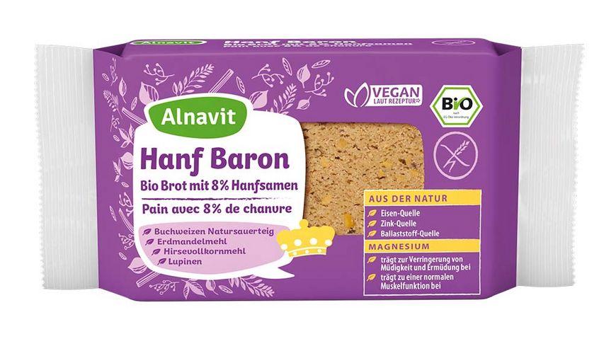 Alnavit Hanf Baron Bio Brot mit Hanfsamen