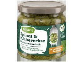 Alnavit Spinat Kichererbse Bio Sauce indisch