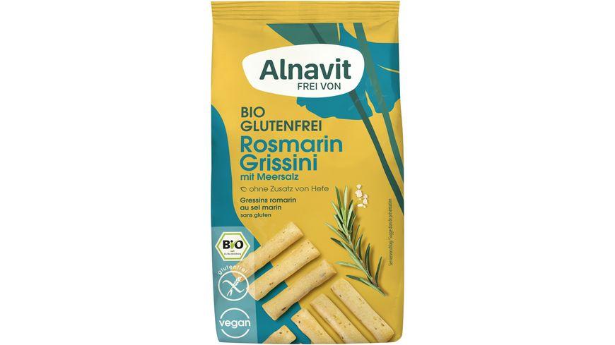 Alnavit Bio Mini Grissini Rosmarin Meersalz