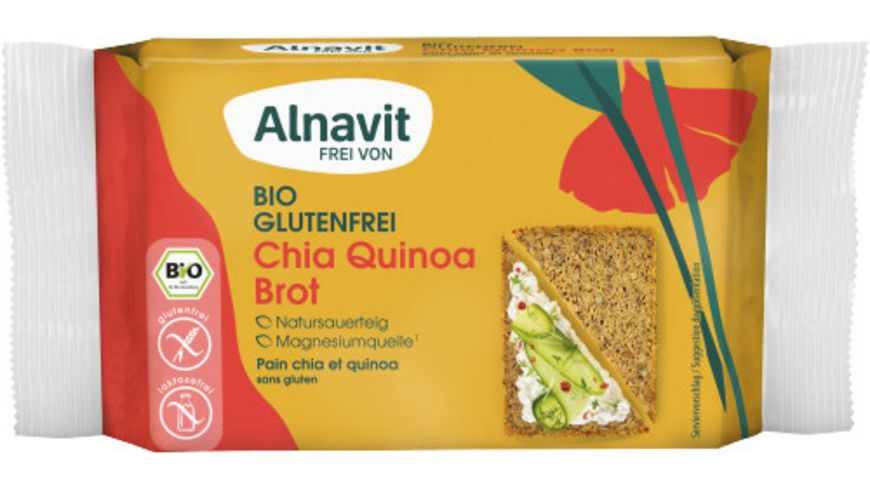 Alnavit Chia König Bio Brot - glutenfreimit Quinoa & Chia