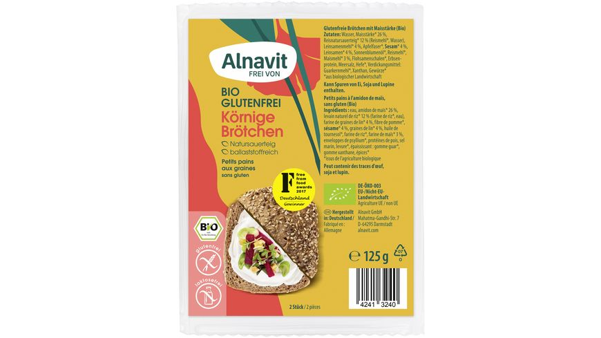 Alnavit Bio Koernige Broetchen