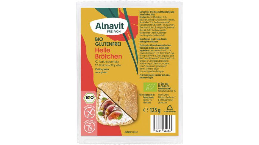 Alnavit Bio Helle Aufbackbrötchen - glutenfrei
