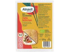 Alnavit Bio Helle Aufbackbroetchen glutenfrei