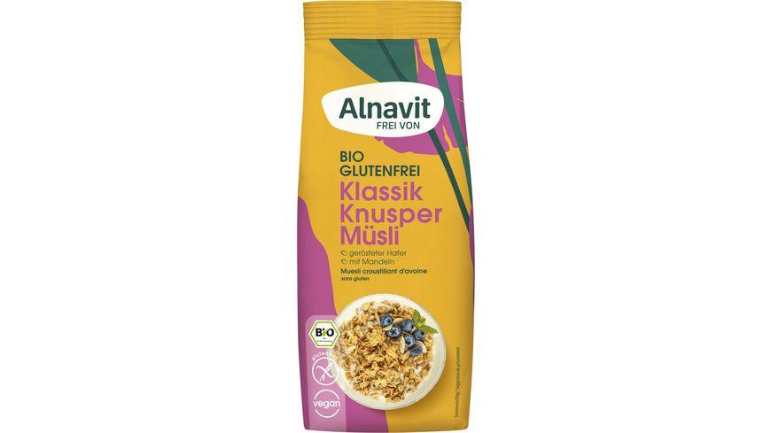 Alnavit Bio Hafer Knusper Müsli - glutenfrei